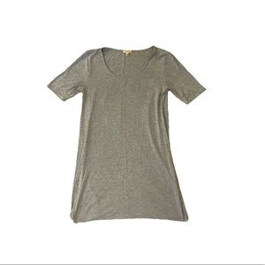Lily White gray soft cotton scoop neck dress small